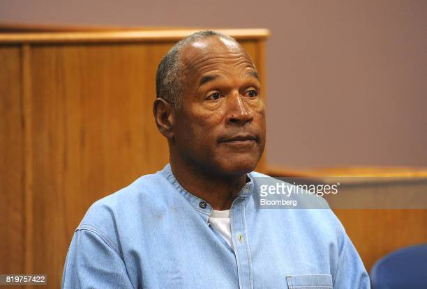 Former professional football player O.J. Simpson listens during a parole hearing at Lovelock Correctional Center in Lovelock, Nevada, U.S., on...