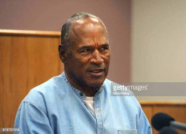 Former professional football player O.J. Simpson speaks during a parole hearing at Lovelock Correctional Center in Lovelock, Nevada, U.S., on...