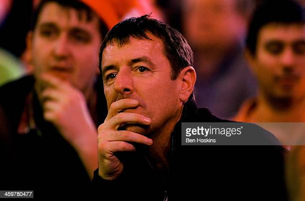 Former professional footballer Matt le Tissier looks on during day fifteen of the Ladbrokescom World Darts Championship at Alexandra Palace on...