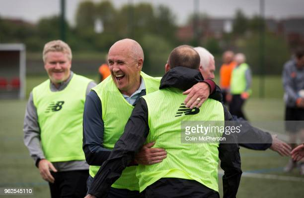 Former professional footballer Phil Neal taking part in a session of walking football at Anfield Sports and Community Centre in Liverpool The...