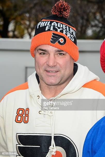 Former professional hockey player Eric Lindros attends the on 90th Annual Macy's Thanksgiving Day Parade on November 24 2016 in New York City