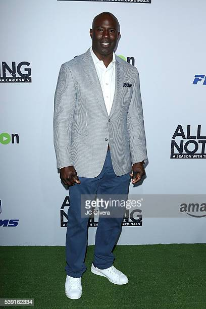 Former Professional National Football League player Terrell Davis attends the premiere of Amazon Video's 'All Or Nothing A Season with The Arizona...