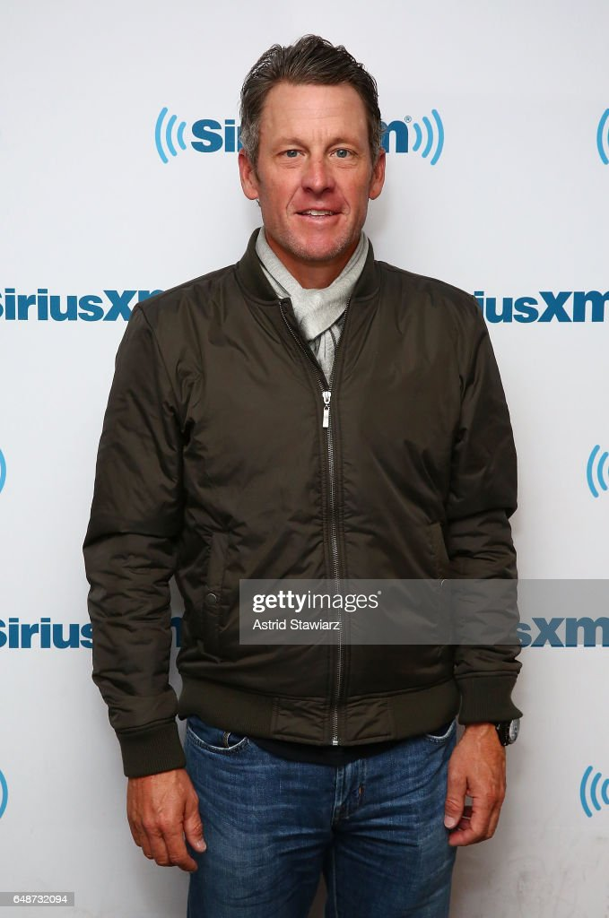 Former professional road racing cyclist Lance Armstrong visits the SiriusXM Studios on March 6, 2017 in New York City.