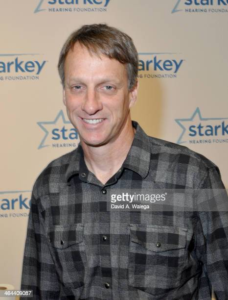 Former professional skateboarder and actor Tony Hawk attends a Starkey Hearing Foundation hearing mission to provide the gift of hearing to people in...