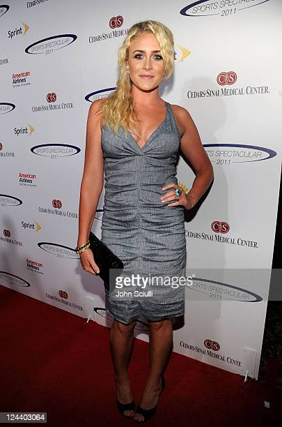 Former professional swimmer Kaitlin Sandeno arrives at the 2011 Cedars Sinai Sports Spectacular at Hyatt Regency Century Plaza on May 22 2011 in...