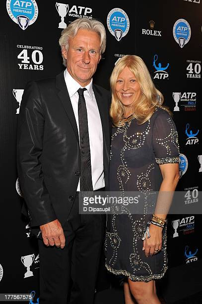 Former professional tennis player Bjorn Borg and wife Patricia Ostfeldt attend the ATP Heritage Celebration at The Waldorf=Astoria on August 23 2013...