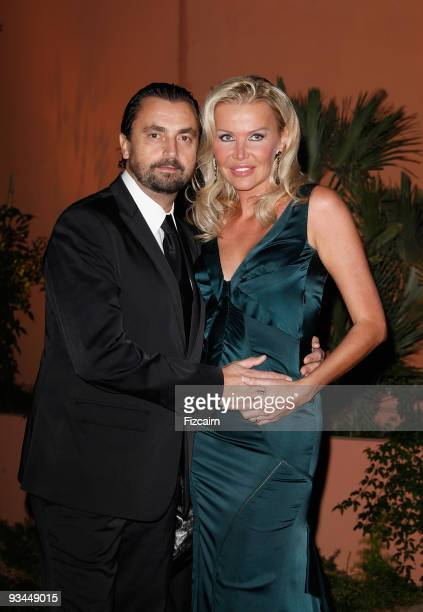 Former professional tennis player Henri Leconte and his wife Florentine attend the Gala evening to celebrate the reopening of Hotel La Mamounia on...