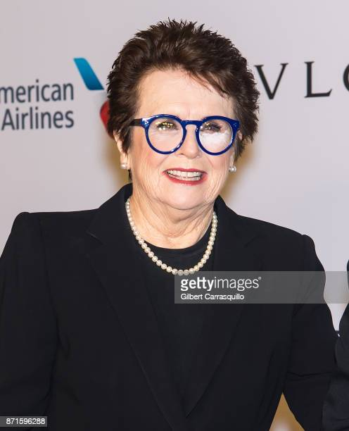Former professional tennis players Billie Jean King attends Elton John AIDS Foundation Commemorates Its 25th Year And Honors Founder Sir Elton John...