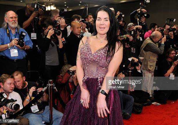 Former professional wrestler and adult film actress Chyna arrives at the 29th annual Adult Video News Awards Show at the Hard Rock Hotel Casino...