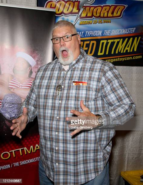 Former professional wrestler Fred Ottman attends ToyCon 2020 at the Eastside Cannery Casino Hotel on March 14 2020 in Las Vegas Nevada