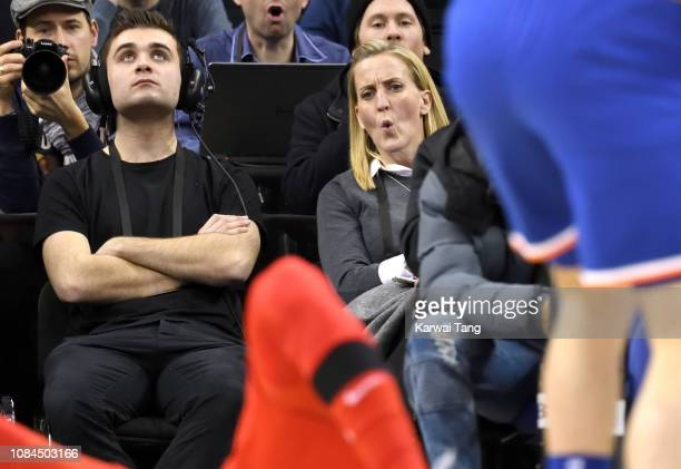 Former protection officer to Meghan Duchess of Sussex whoÕs name is restricted for security reasons attends the Washington Wizards vs New York Knicks...