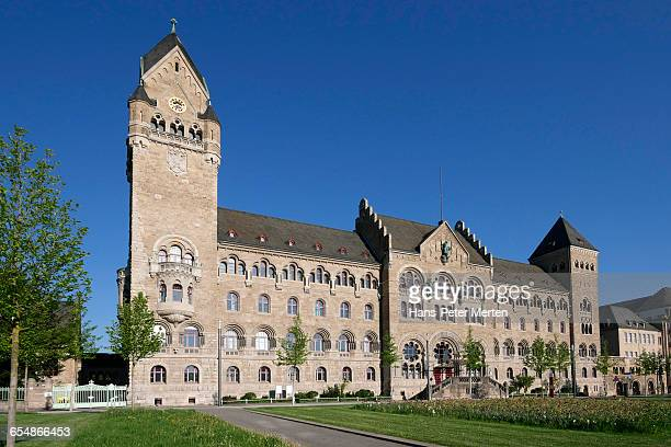 former prussian government building, koblenz - german military stock pictures, royalty-free photos & images