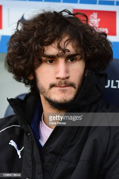 Former PSG youth player Yacine Adli of Bordeaux on the bench for the Ligue 1 match between Paris Saint Germain and Bordeaux at Parc des Princes on...