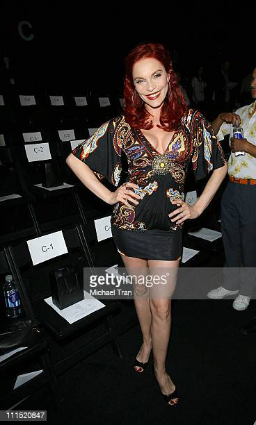 Former Pussycat Doll Carmit Bachar front row at Nicholai by Nicky Hilton Fall 2008 collection during Mercedes Benz LA Fashion Week held at Smashbox...