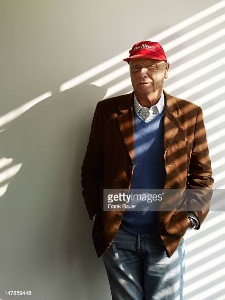 Former racing driver and aviation entrepreneur Niki Lauda is photographed for Ferrari Opus books on February 8 2010 in Vienna Austria