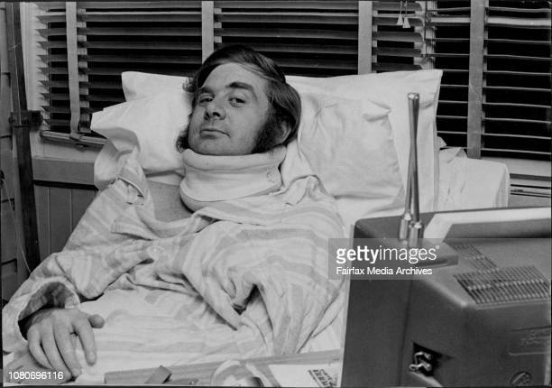 Former racing driver John Moxon in the Spinal Injuries Unit of the Royal North Shore Hospital last night July 6 1970