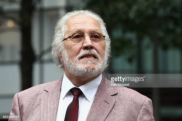 Former radio and TV presenter Dave Lee Travis real name David Patrick Griffin arrives at Southwark Crown Court for a retrial on September 1 2014 in...