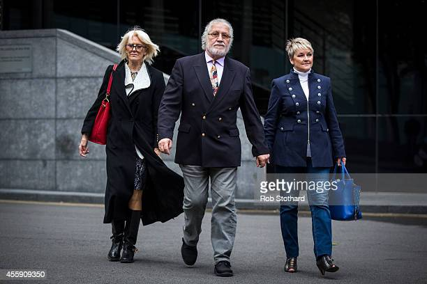 Former radio and TV presenter Dave Lee Travis real name David Patrick Griffin and his wife Marianne Griffin arrive at Southwark Crown Court at...