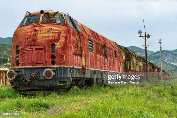former railway station - prrenjas - albanië stockfoto's en -beelden