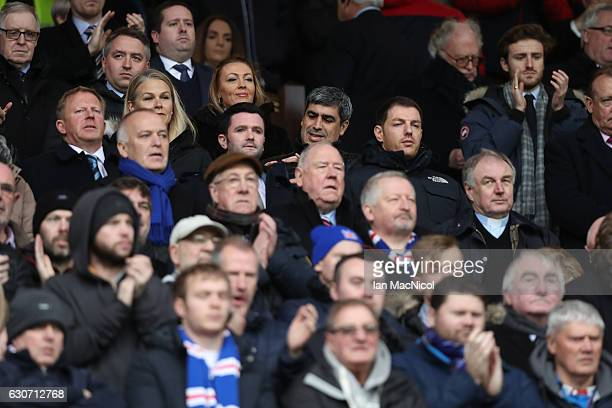 Former Rangers player Claudio Reyna is seen in the stand prior to the Ladbrokes Scottish Premiership match between Rangers and Celtic at Ibrox...