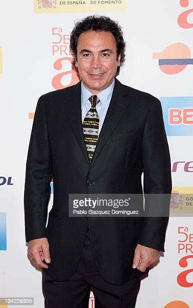 Former Real Madrid football player Hugo Sanchez attends the 'AS Awards 2011' ceremony at Hotel Westin Palace on November 28 2011 in Madrid Spain