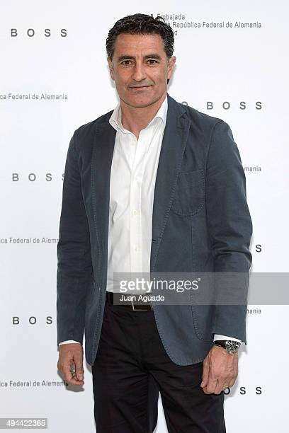 Former Real Madrid Player and Olympiacos Football Club Coach Jose Miguel Gonzalez Martin del Campo Michel attends the Hugo Boss 90th Anniversary...