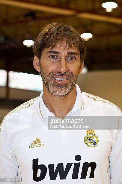 Former Real Madrid player Rafael Martin Vazquez poses for a portrait before a charity football match with cerebral palsy sufferers at the Spanish...