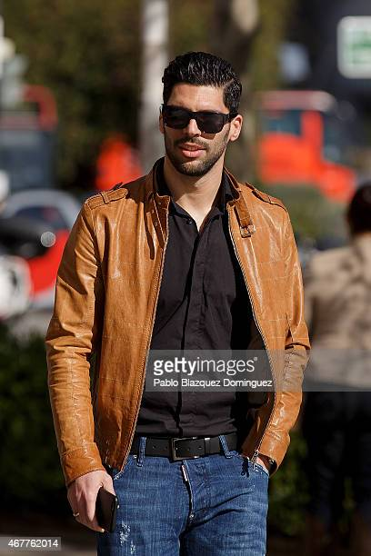 Former Real Zaragoza player and current Getafe CF player Angel Lafita arrives at court at the City of Justice as he is investigated with another 41...