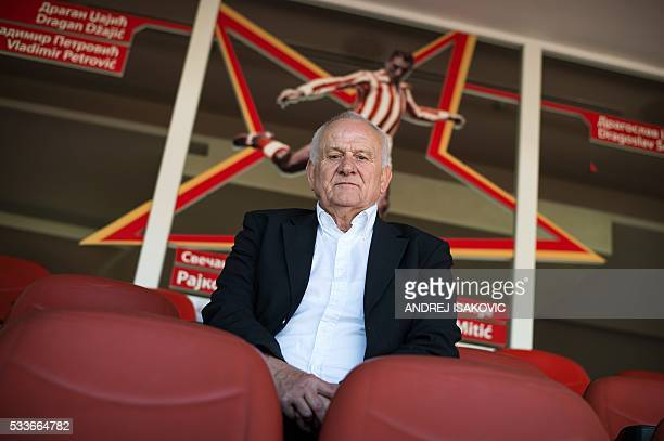 Former Red Star Belgrade coach Ljupko Petrovic poses during an interview with the AFP on April 27 2016 in Belgrade as he remembers the Red Star...