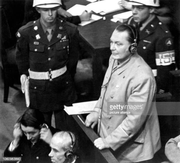 Former Reich Marshal Hermann Göring is asking for permission to speak after all accused had negated the question if they would confess guilty on 21...