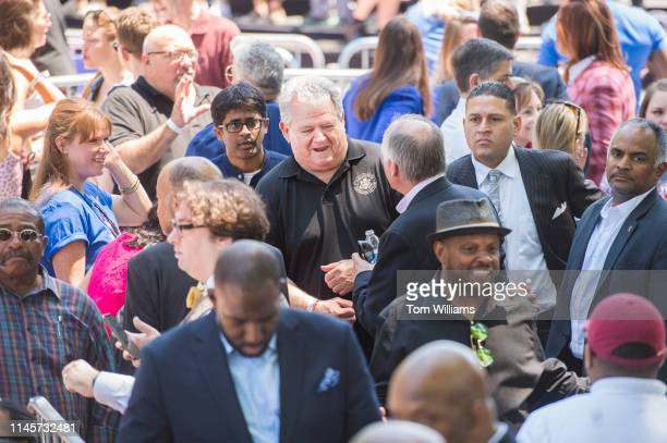Former Rep. Bob Brady, D-Pa., is seen during Democratic presidential candidate Joe Biden's 2020 campaign kickoff rally at the Eakins Oval in...