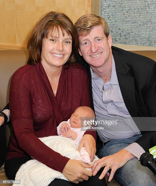 Former Rep Patrick Kennedy wife Amy Petitgout Kennedy and new daughter Nora Kara Kennedy depart AtlantiCare Regional Medical Center on November 21...