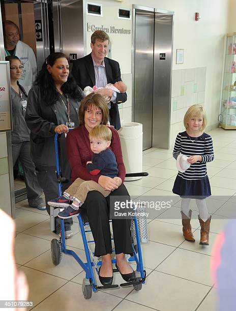 Former Rep Patrick Kennedy wife Amy Petitgout Kennedy new daughter Nora Kara Kennedy Owen Patrick Kennedy and Harper Petitgout depart AtlantiCare...