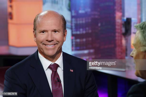 Former Representative John Delaney, 2020 presidential candidate, smiles during a Bloomberg Television interview in New York, U.S., on Monday, May 6,...
