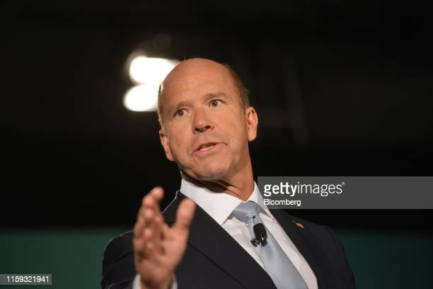 Former Representative John Delaney, 2020 presidential candidate, speaks during the American Federation of State, County & Municipal Employees Public...