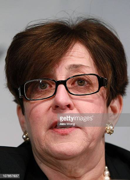 Former Republican National Committee official Maria Cino participates in a debate between chairmanship candidates of the RNC, co-sponsored by...