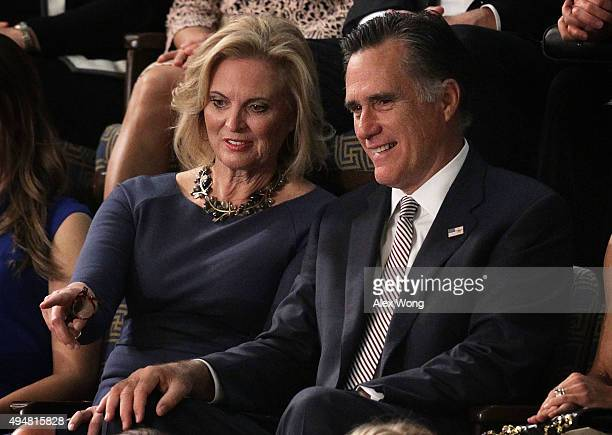 Former Republican presidential candidate Mitt Romney and his wife Ann Romney watch a speaker election in the House Chamber of the Capitol October 29...