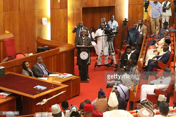 Former Rivers State Governor Rotimi Ameachi during the screen of minister by the Senate of the National Assembly in Abuja 22 October 2015