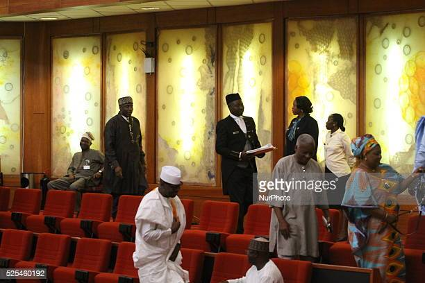 Former Rivers State Governor Rotimi Ameachi leaving the chambers of the senate after his screen by the Senate of the National Assembly in Abuja 22...