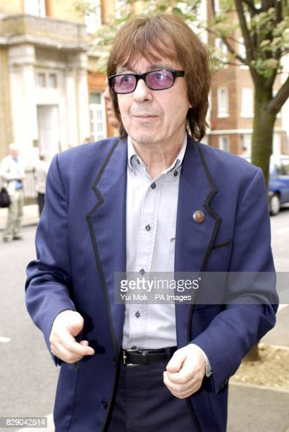 Former Rolling Stone Bill Wyman during the unveiling of a Heritage Foundation Blue Plaque in honour of the late record producer Mickie Most at RAK...