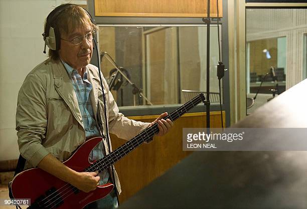 Former Rolling Stone Bill Wyman takes part in a charity recording of a Children in Need album at Abbey Road studios in west London on September 7...