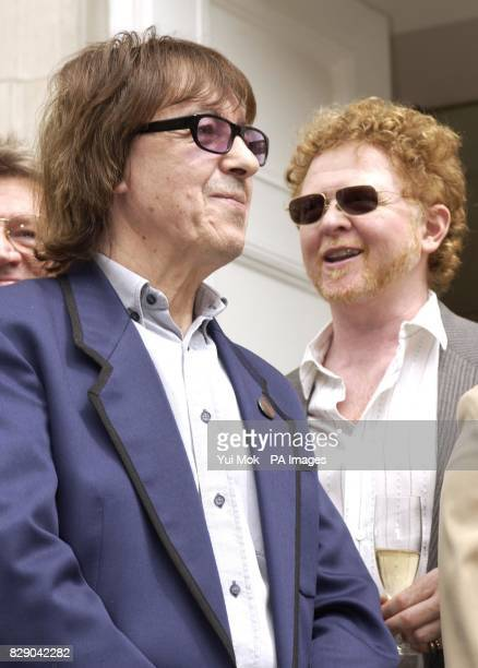 Former Rolling Stone member Bill Wyman and Mick Hucknall during the unveiling of a Heritage Foundation Blue Plaque in honour of the late record...