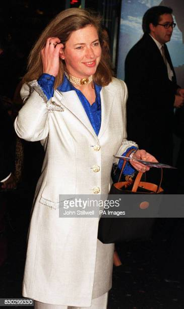 Former Royal nanny Tiggy Pettifer arrives at the Warner Village Leicester Square for the Royal charity premiere of The Iron Giant an animated film...