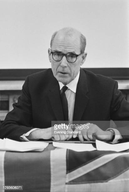 Former Royal Navy officer Sir Caspar John , a member of the Security Commission, UK, 1968. He is the figurehead of the 'I'm Backing Britain' campaign...