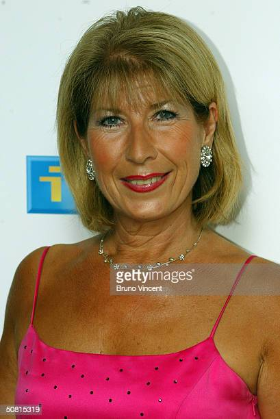 Former Royal reporter Jennie Bond poses in the pressroom at the sixth annual 'British Soap Awards 2004' on May 8 2004 at BBC Television Centre in...