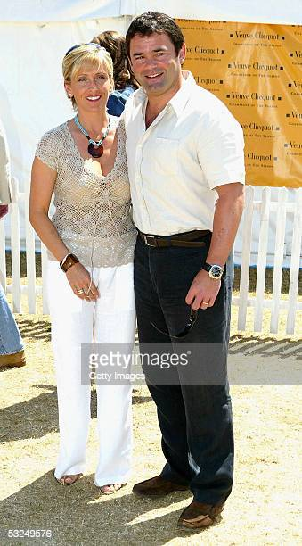 Former rugbly player Will Carling and his wife attend the final of the Veuve Clicquot Gold Cup which began on June 25 and culminates this afternoon...
