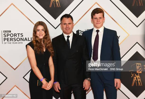 Former rugby player Kenny Logan and family on the red carpet at the BBC Sports Personality of the Year Awards, at the P&J Live arena on December 15...