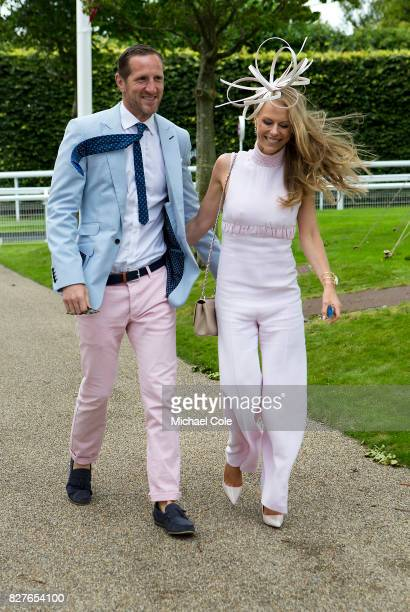 Former rugby player Will Greenwood and his wife Caroline arriving on 'Ladies Day' at 'Glorious Goodwood' The Qatar Goodwood Festival at Goodwood...
