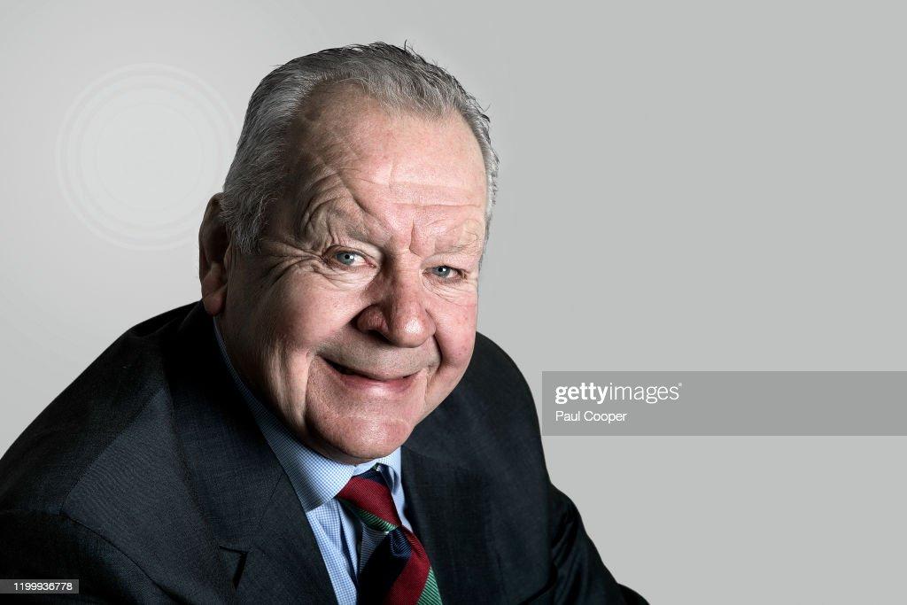 Bill Beaumont, Portrait shoot, December 3, 2019 : News Photo