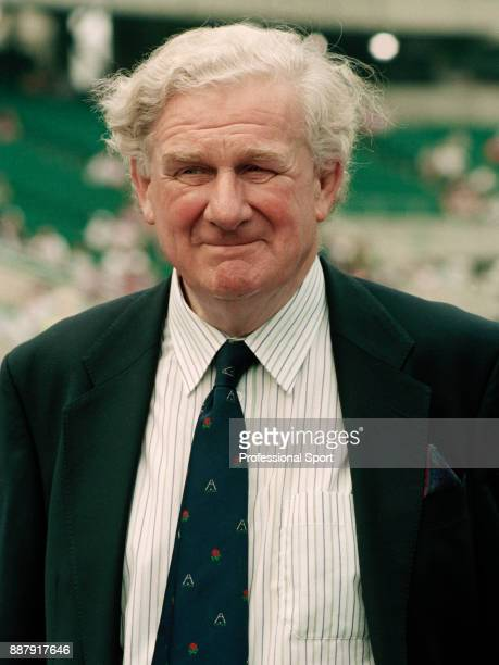 Former rugby union player Dudley Wood at the Pilkington Cup Final between Bath and Wasps at Twickenham in London on 6th May 1995